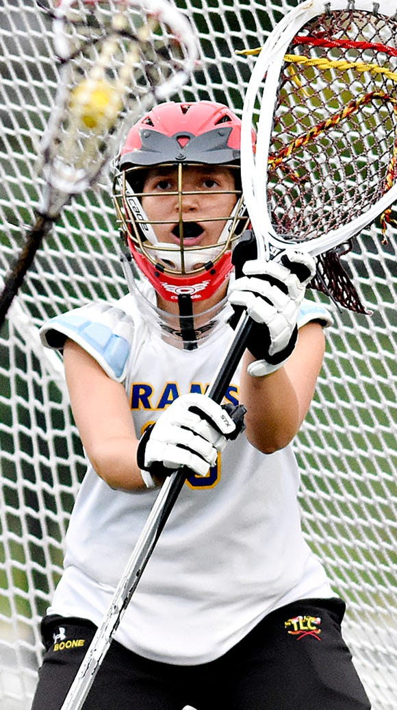 Kennard-Dale's goalie the last two seasons, Clare Boone,