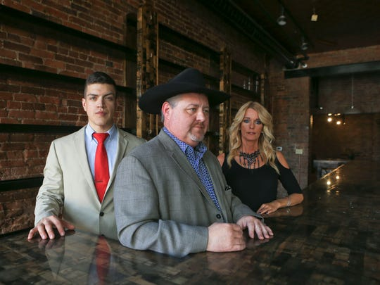 Keith Hazelbaker, center, has ownership of Derby City