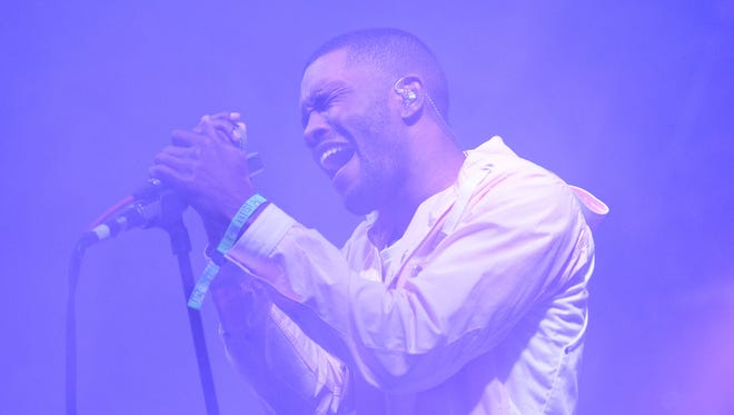 Frank Ocean performs during the 2014 Bonnaroo Music & Arts Festival on June 14, 2014 in Manchester, Tenn.