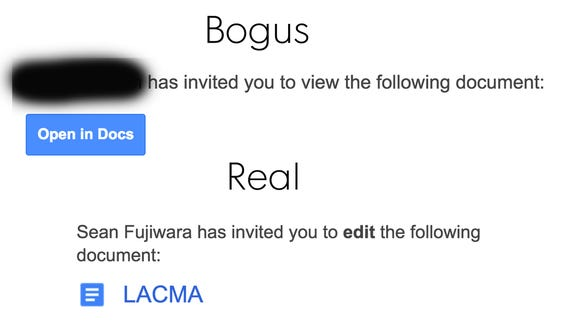 See the difference between the bogus and real Google