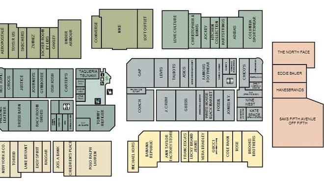 Plan of the Shoppes of the Bluegrass in Simpsonville, Kentucky.