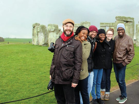 A trip to Stonehenge in England is experienced by these FSU students studying in the London program.