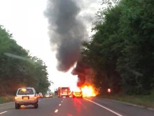 Yorktown car fire