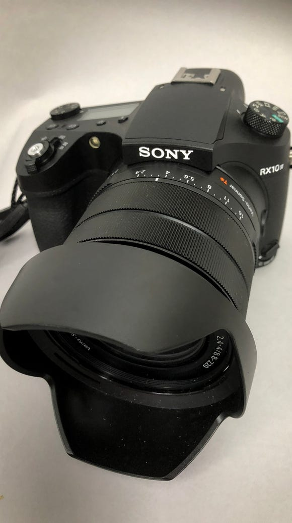 Sony RX10IV camera has a whopping 24mm-600mm zoom lens.