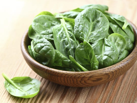 Green leafy vegetables, such as spinach, are a good source of magnesium.