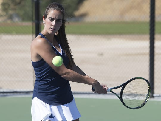 Nevada's Claudia Herrero was named the Mountain West women's tennis player of the year in 2017 and is back for her senior season.
