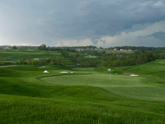 This is overlooking the ninth hole at the Bridgewater
