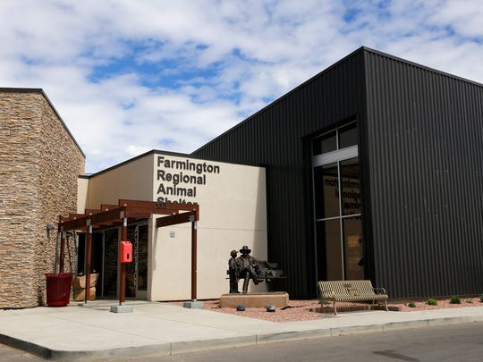The Farmington Regional Animal Shelter is pictured