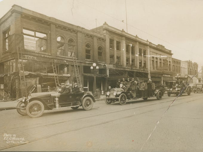 Fire destroyed the Paris Dry Goods Store in 1919. The