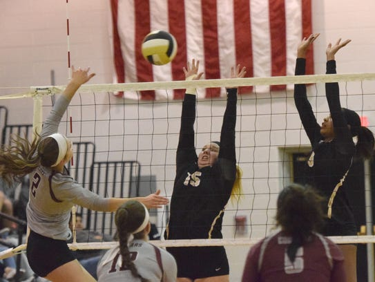 Buffalo Gap's Camille Ashby (15) had 373 digs and 632