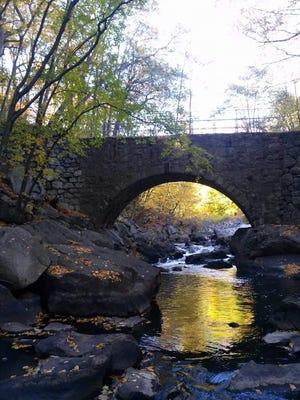 A stone bridge in Grace Lord Park in Boonton.
