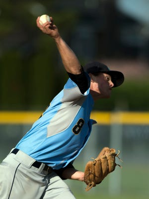 Cape's Kai Vitella throws a pitch in a game against Indian River April 29 in Lewes.
