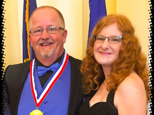 John Pace and his daughter, Brianna won presidential