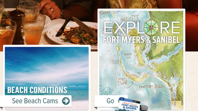 Lee visitor bureau's fortmyers-sanibel.com website is loaded-up with beachcam links and other information to show current shoreline conditions.