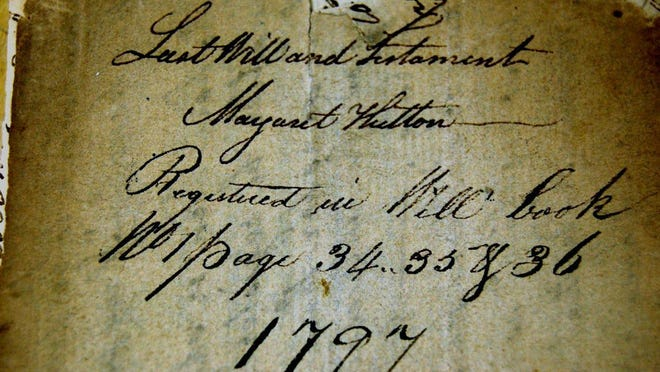 Margaret Hutton's will specified David Truman should be freed in 1806.