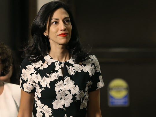 Huma Abedin, aide to former Secretary of State Hillary Clinton, arrives at a closed door hearing on Capitol Hill on Oct. 16, 2015, in Washington, DC.