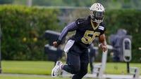 New Saints linebacker Demario Davis wants to intimidate opponents. Saints host Arizona in preseason game Friday night