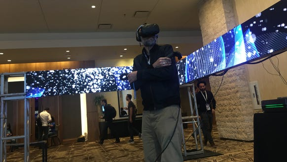 A participant at SXSW Conference and Festivals experiences