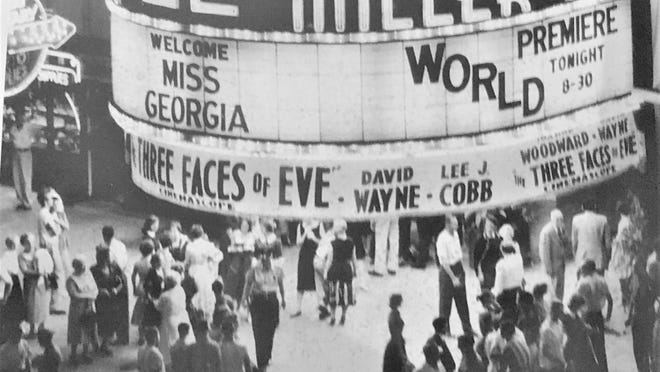 """Broad Street was busy with the 1957 premiere of """"Three Faces of Eve'"""