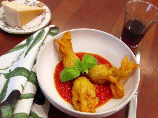 Food Stuffed Zucchini Blossoms
