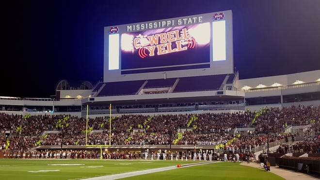 Mississippi State established a new world record for cowbells simultaneously rung on Thursday night.