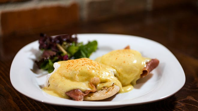 This is the prosciutto eggs benedict at Nosh Gastropub in Chandler, Thursday, October 16, 2014.