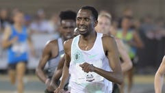 Hassan Mead wins the 10,000 on Thursday in Sacramento