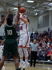 Lakota West forward Abby Prohaska hits this shot for