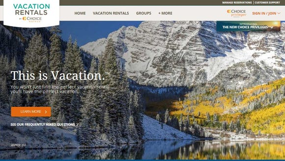 Choice Hotels has launched a vacation rental division.