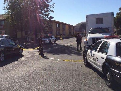 A gunman shot a Sacramento County sheriff's deputy