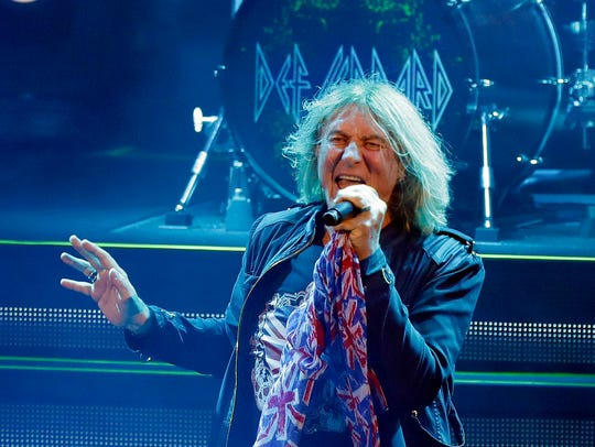 Def Leppard performs at the American Family Insurance