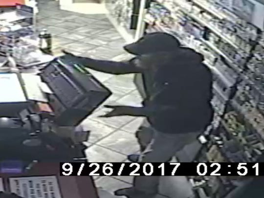 Video surveillance footage of the Stewart's Shops burglary