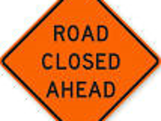 road-closed sign