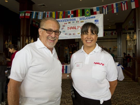 Jorge and Betty Rod, co-founders of the National Association for the Advancement of Latino People, greet guests at last year's Garden State Latino Cultural Festival.