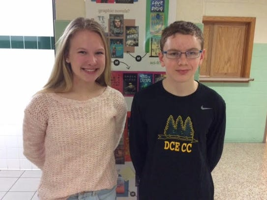 D.C. Everest Junior High students Grace Peterson and