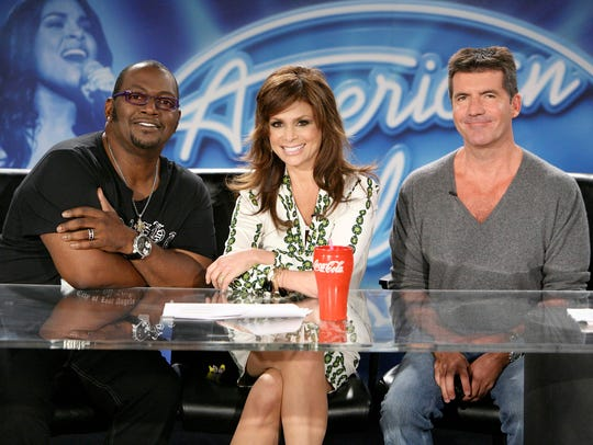 Randy Jackson, left, Paula Abdul and Simon Cowell formed
