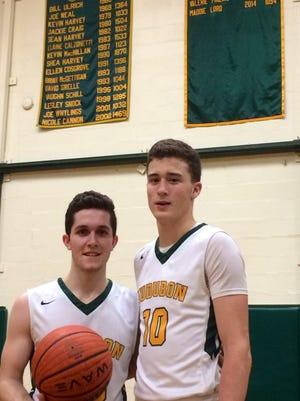 Dillon Tassi (left) and Brian Furlong of Audubon High School.