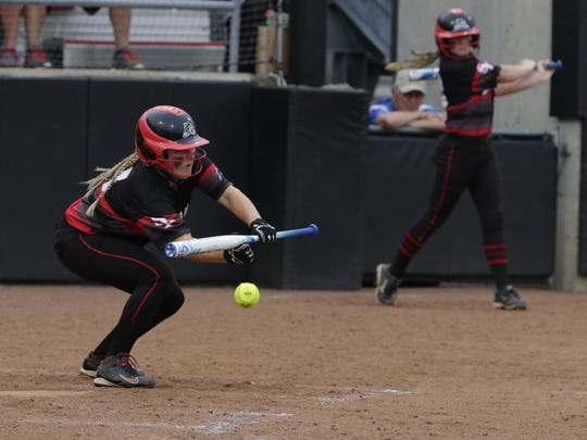 Junior centerfielder Ally Miklesh has demonstrated throughout her SPASH softball career she is capable of reacing base in a variety of ways. Miklesh is batting .500 entering the Panthers Division 1 state quarterfinal matchup with Sun Prairie Thursday in Madison.