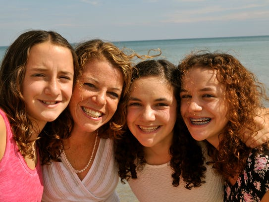 Rebecca Dallet (second from left) with her daughters,