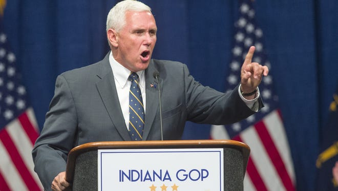 Gov. Mike Pence, who earlier this month spoke at the Indiana Republican Convention and urged voters to support Donald Trump, declined to say how he would respond if asked to become Trump's running mate.