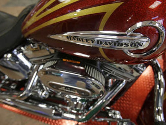 This photo shows a CVO Deluxe Harley-Davidson at the South East Harley-Davidson in Bedford, Ohio.