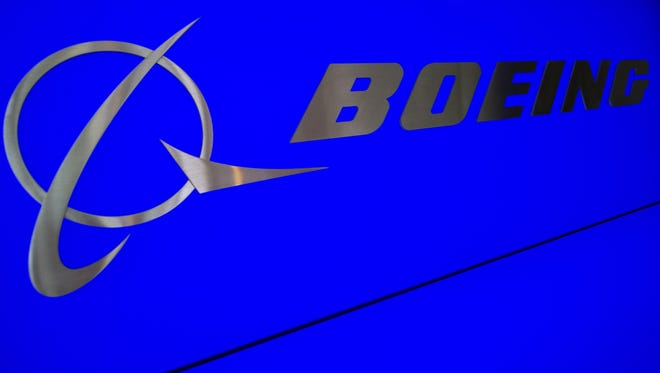 (FILES)The Boeing logo and name are seen inside Boeing's new production facilities in this April 27, 2012 file photo in North Charleston, South Carolina.