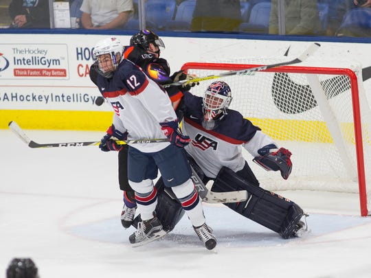 NTDP Under-18 defenseman Tommy Miller of West Bloomfield