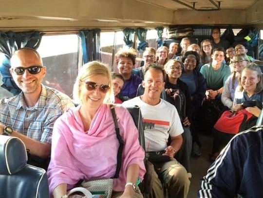 Members of the 2016 Chocolate University trip en route