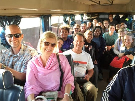 Members of the 2016 Chocolate University trip en route to Mababu, Tanzania.