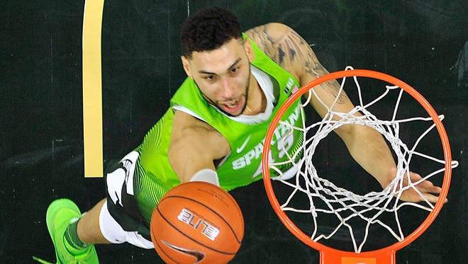 Denzel Valentine won All-American honors at Michigan State last season and is projected by some experts to be a late lottery pick.