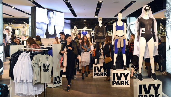 Beyonce's Ivy Park collection goes on sale at TopShop in London, England.