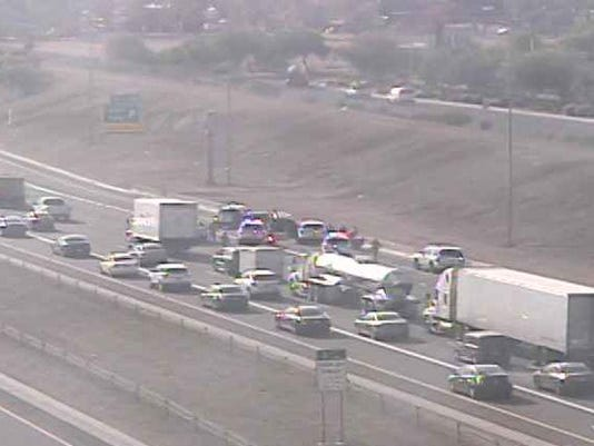 Police chase ends on I-10