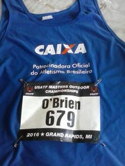 Dan O'Brien recently competed in the USA Masters Track