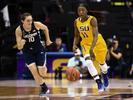 NCAA Womens Basketball: Connecticut at Louisiana State